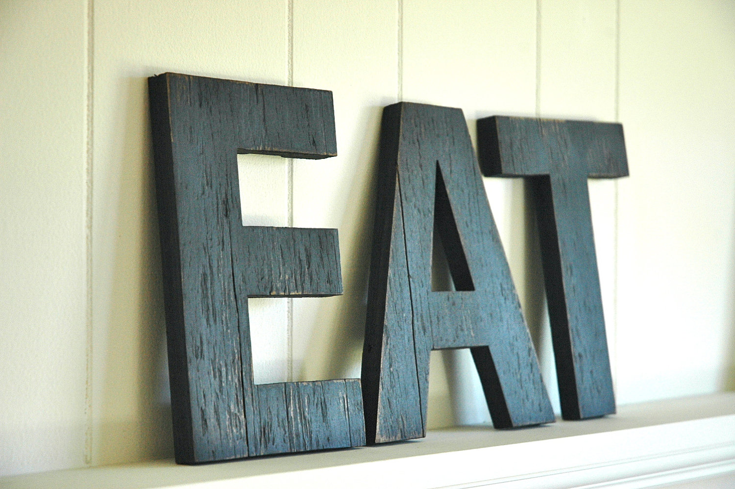 EAT Kitchen Wall Art Wooden Base