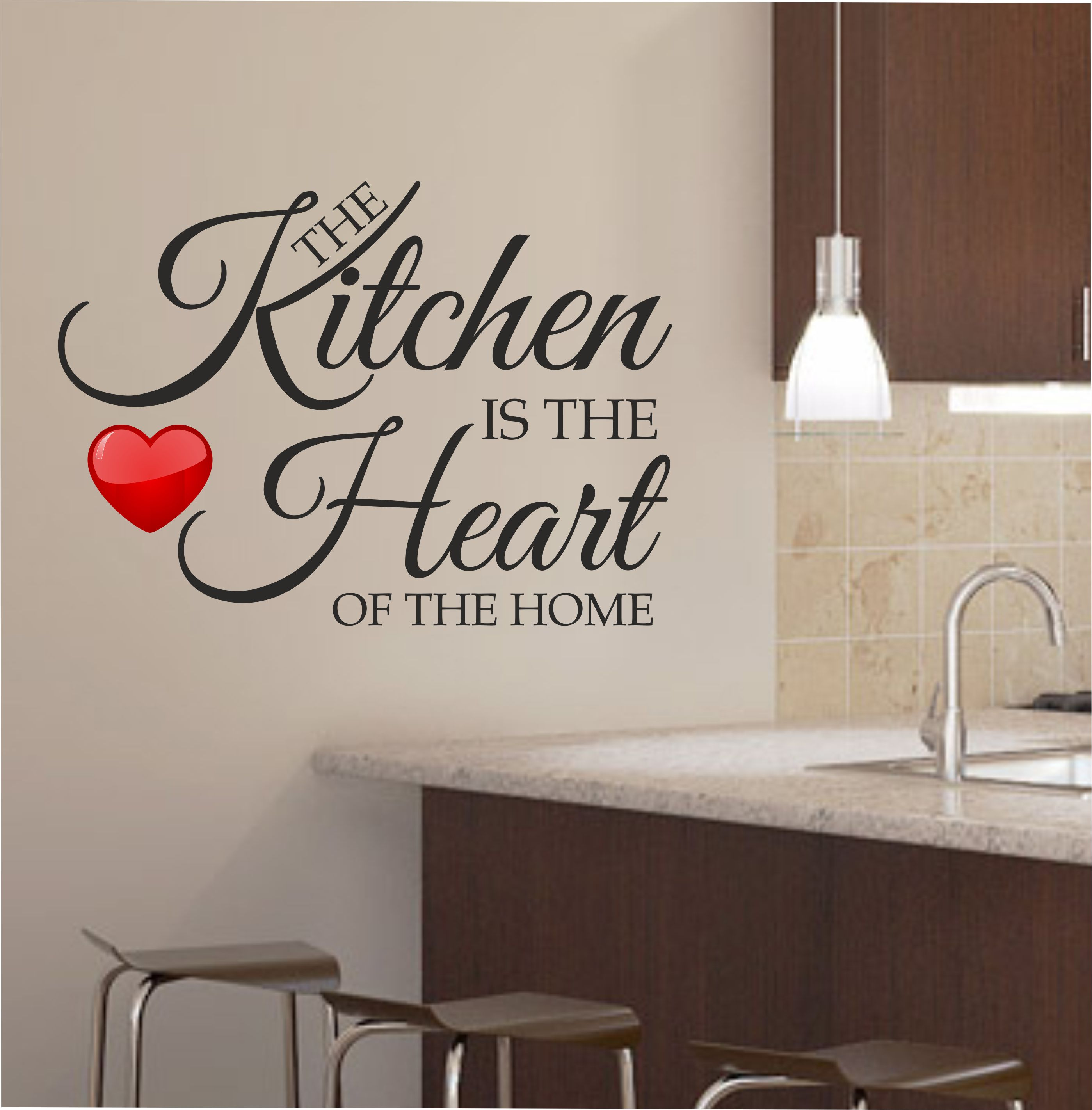 Kitchen wall art for a more fresh kitchen decor for Kitchen colors with white cabinets with large metal letter wall art