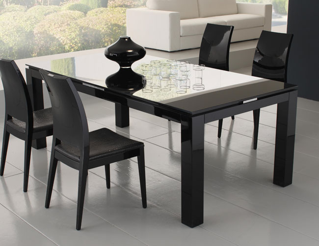 Modern DIning Table Black Colors