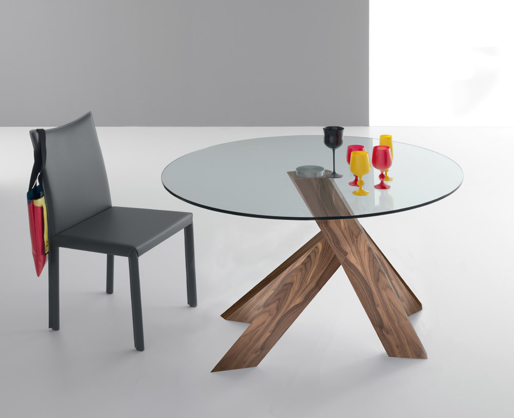 how to choose best modern dining table » inoutinterior -  modernglassdiningtableroundshapes