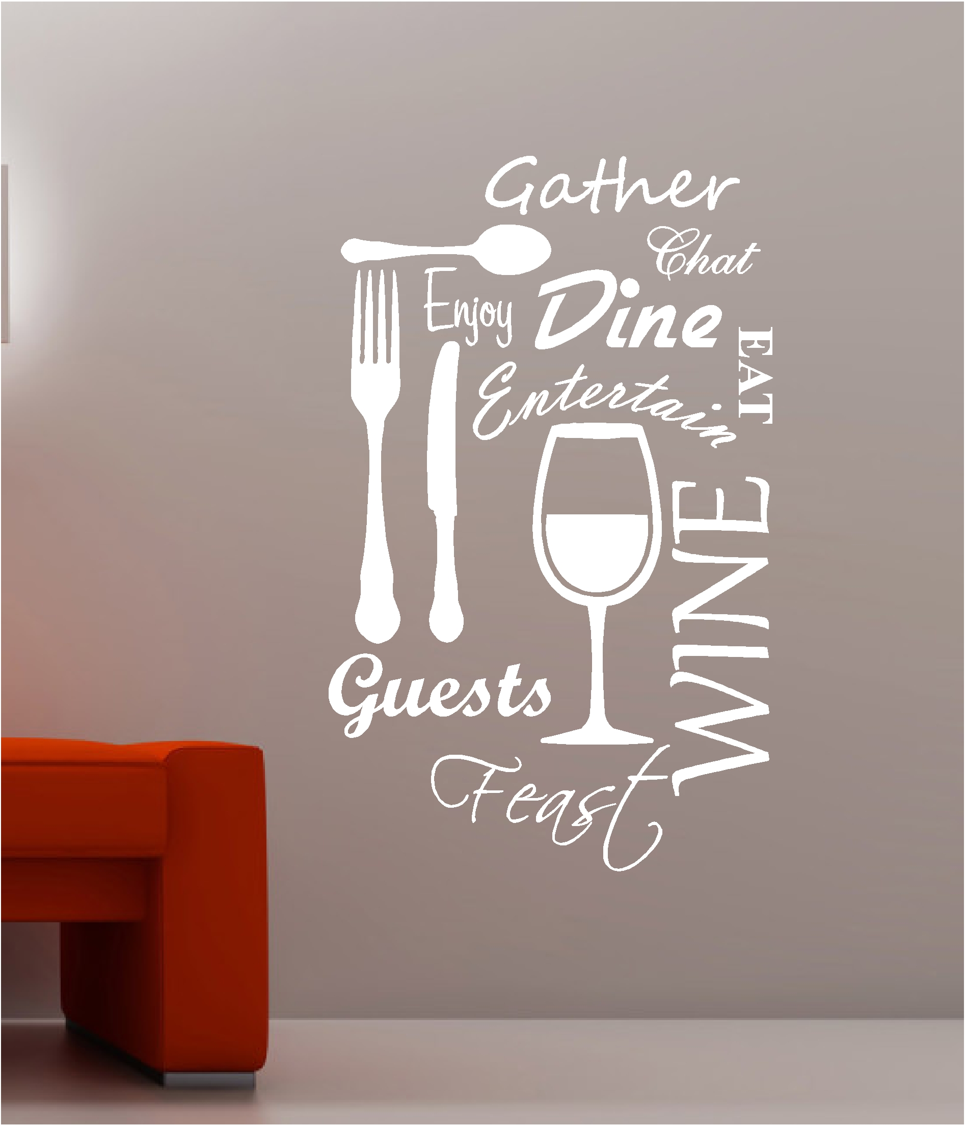 Wine Quotes Kitchen Wall Art