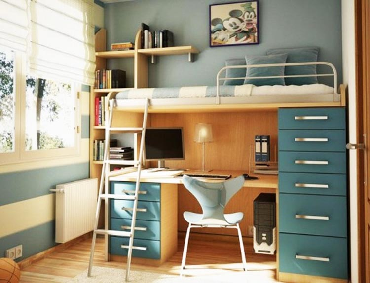 Adult Loft Bed With Desk With Storage Drawers