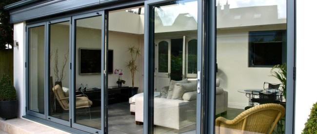 Alumunium Bi-Fold Doors Black Colors
