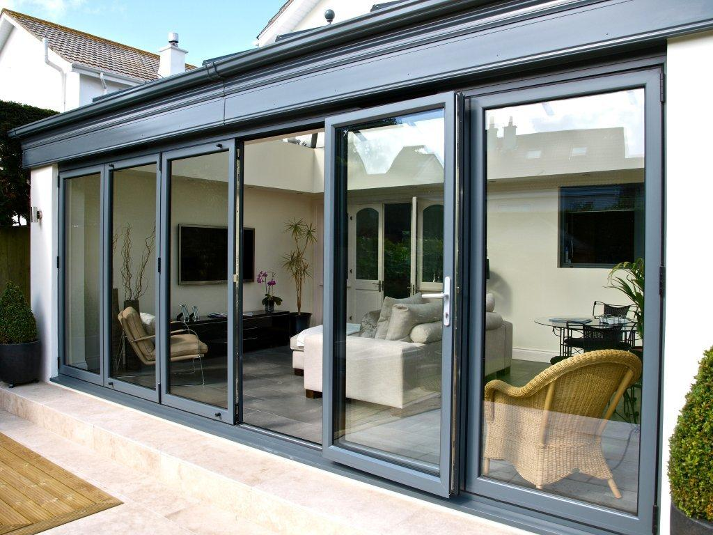 Alumunium Bi-Fold Doors Black Colors