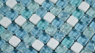 Bathroom Glass Floor Tiles Mosaic