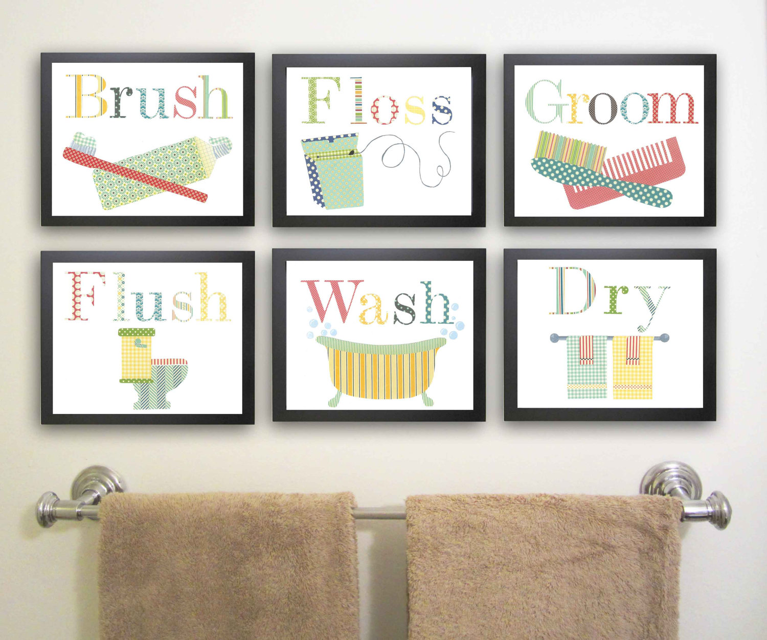Bathroom wall art decorating tips inoutinterior for Art for bathroom ideas