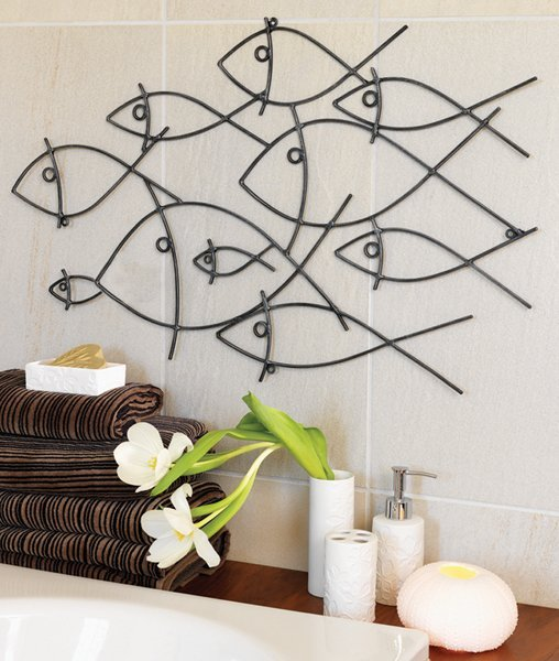 Metal Bathroom Wall Art