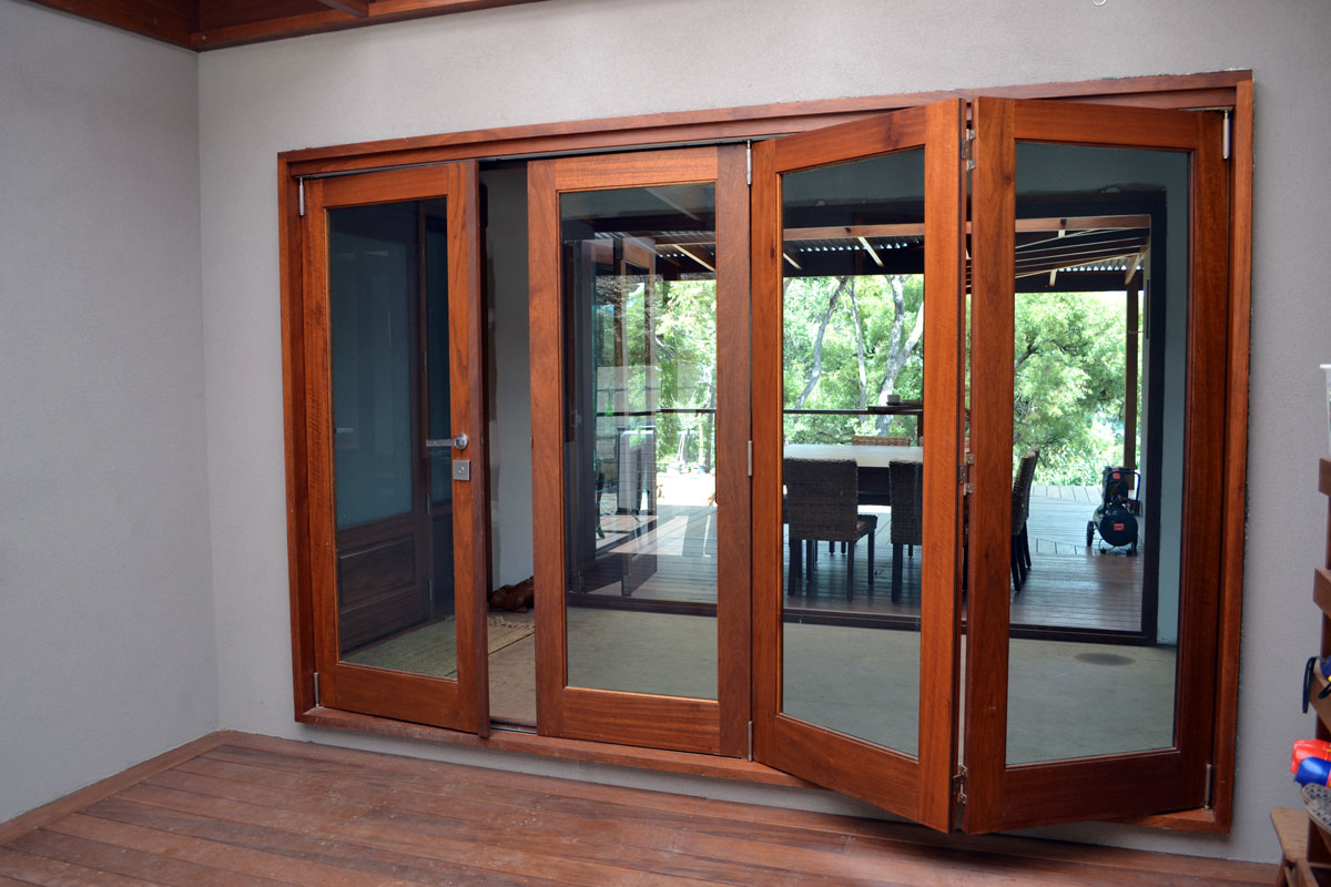 Bi-Fold Doors Timber Wood Base