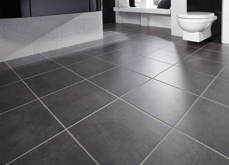 Gray Bathroom Floor Tile