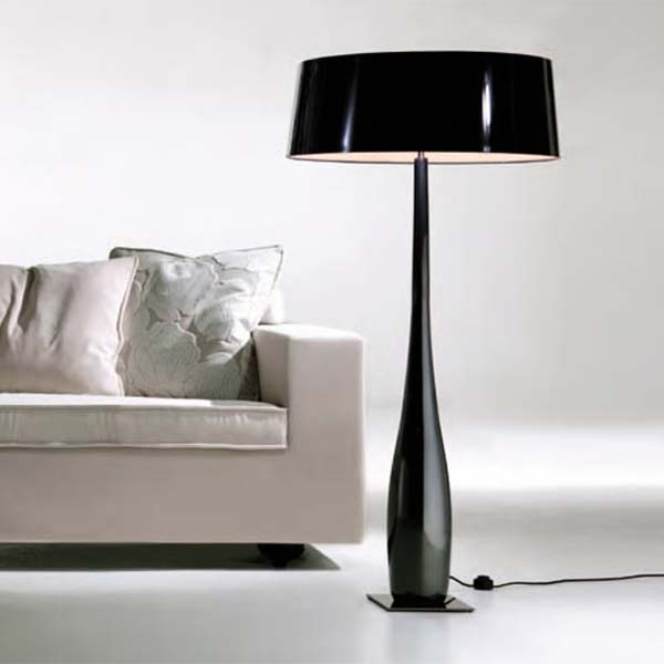 Black Shades Ultra Modern Floor Lamps