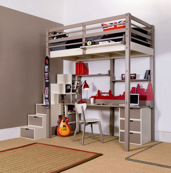 Unique loft beds for adults design ideas inoutinterior Adult loft bed