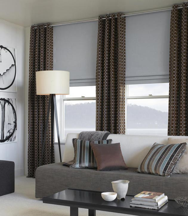 Contemporary Modern Window Treatments Printed Curtains