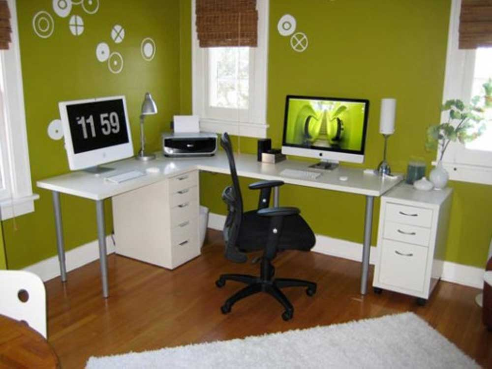 Corner Home Office Desks Modern Style