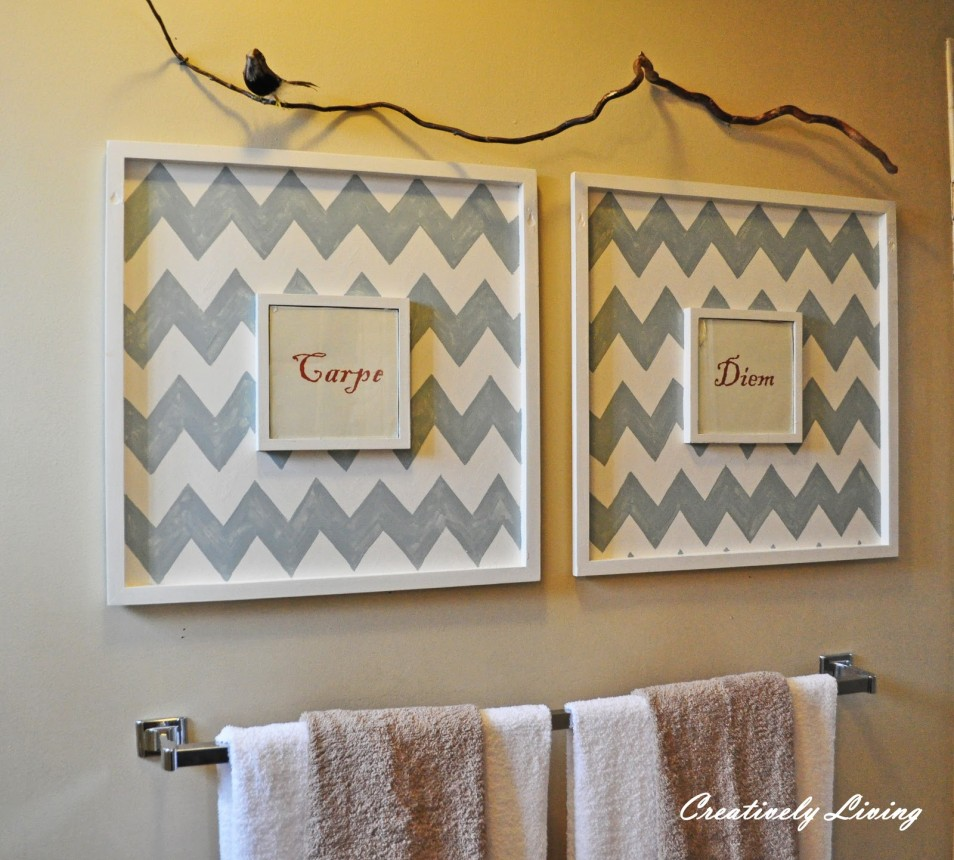 ... DIY Bathroom Wall Art - Bathroom Framed Wall Art ... & Bathroom Wall Art u0026 Decorating Tips » InOutInterior