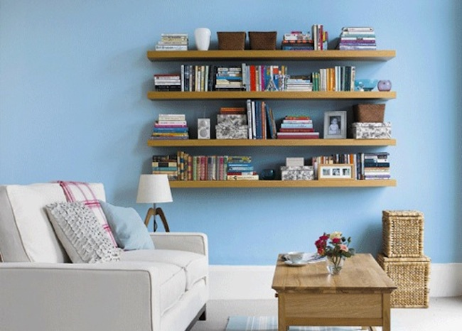 DIY Floating Shelves Wooden Base