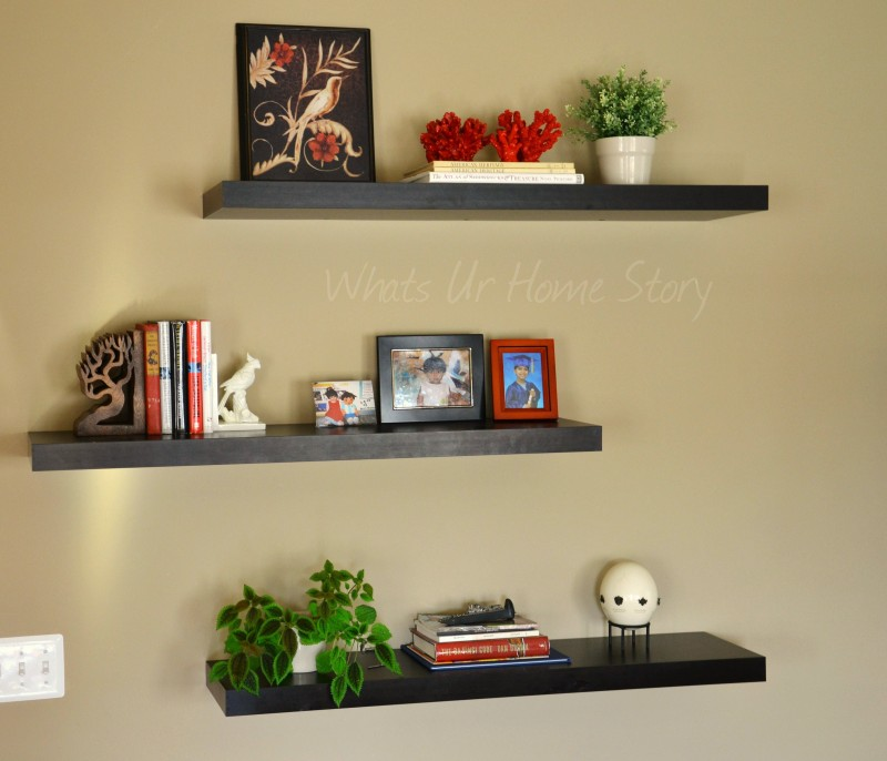 create a decorative room using floating shelves inoutinterior