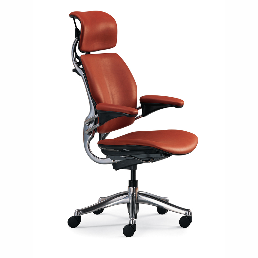 Ergonomic Office Chair leather brown