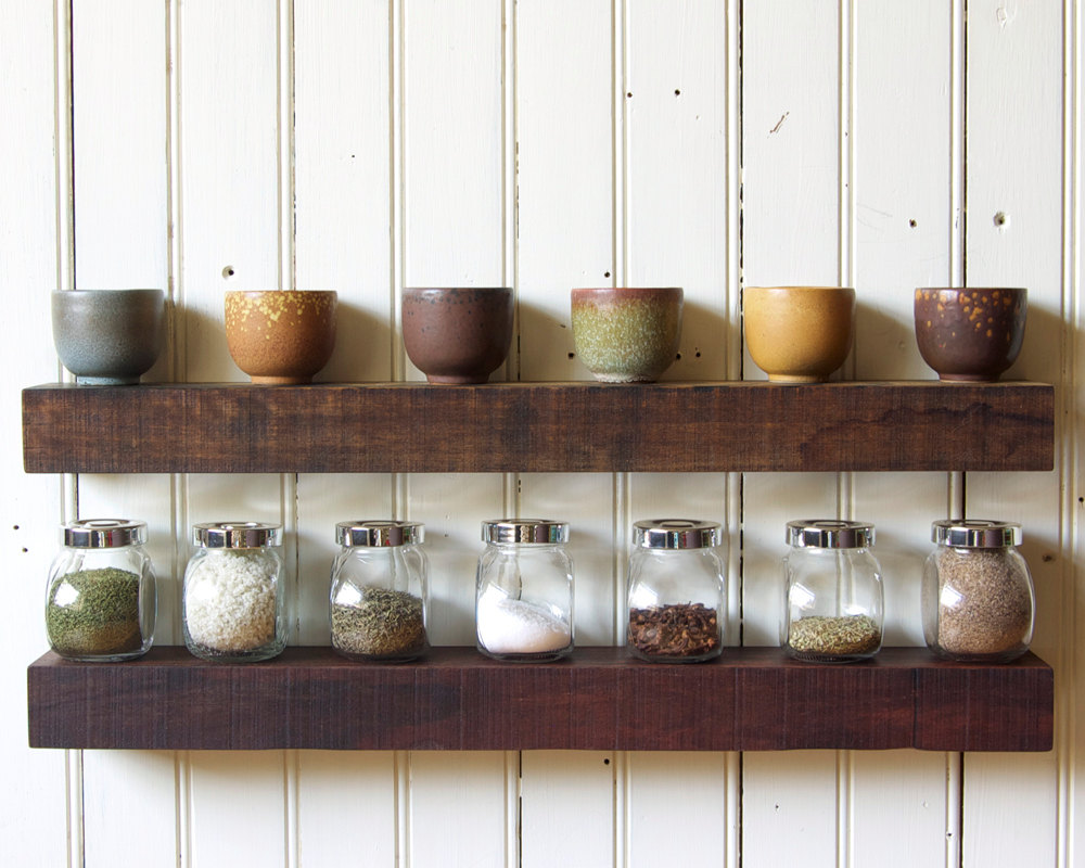 Floating Shelves Reclaimed Wood Base