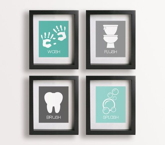 Framed Bathroom Wall Art