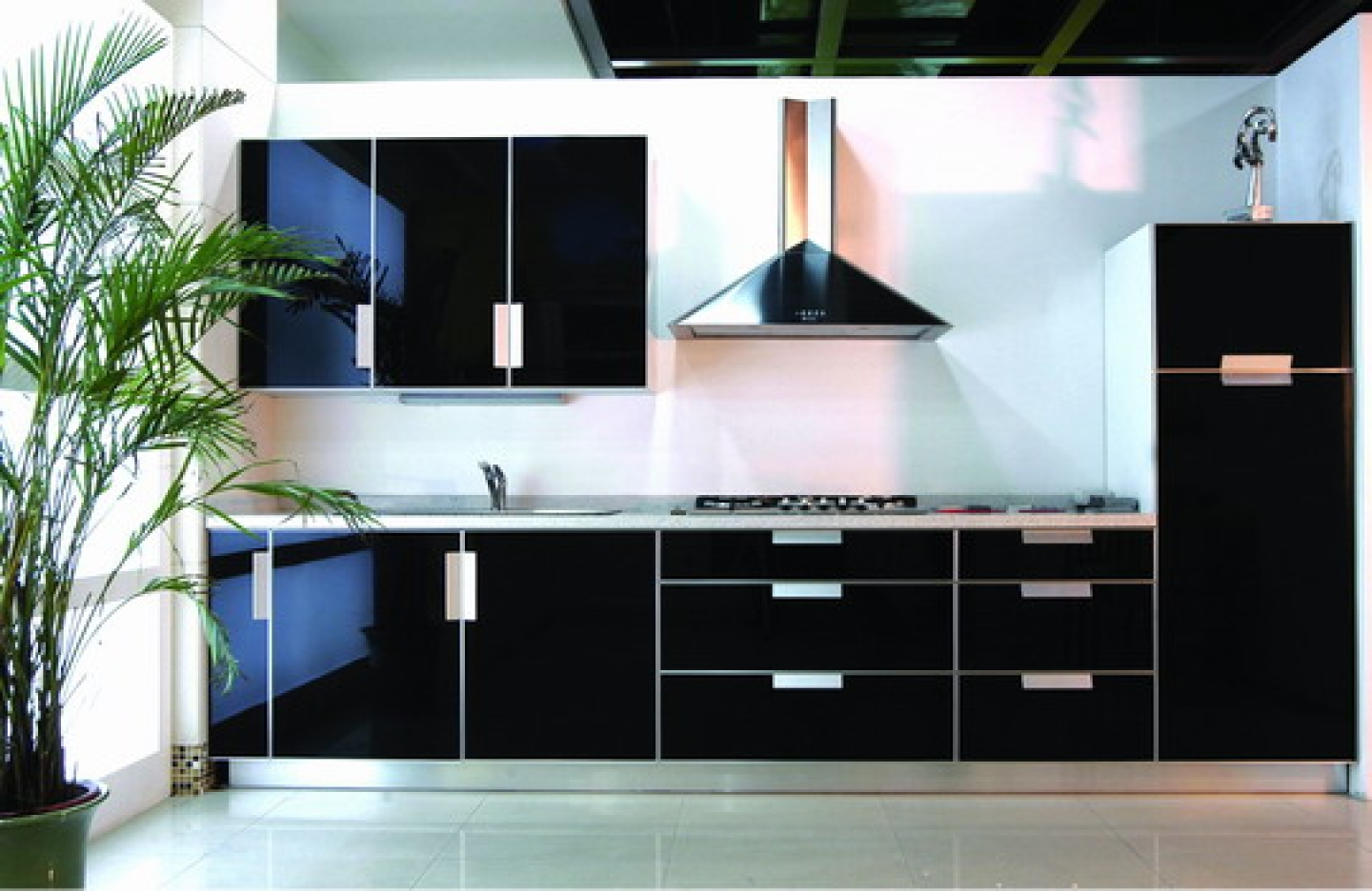 ... Black Modern Kitchen Cabinets ... & Modern Kitchen Cabinets Design u0026 Features » InOutInterior
