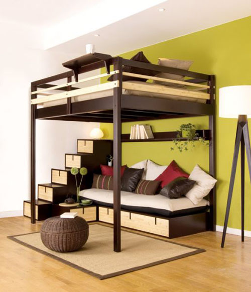Unique loft beds for adults design ideas inoutinterior - Small beds for adults ...