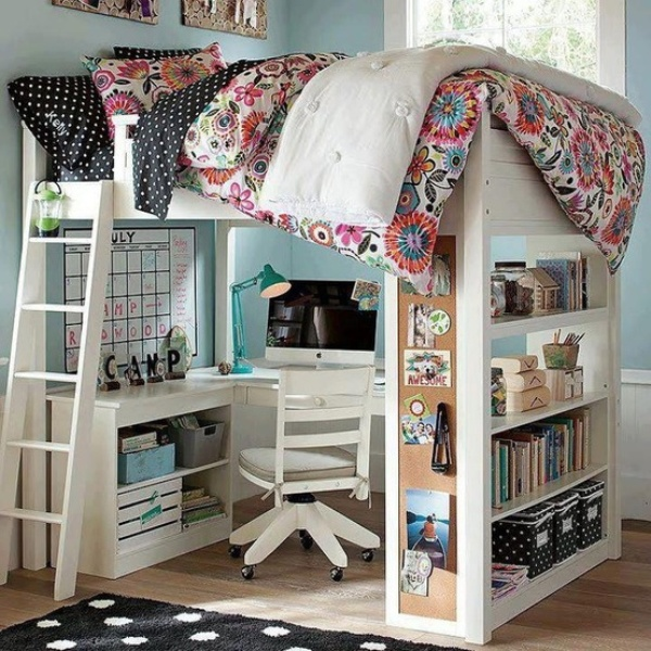 Loft Bed With Desk For Teens