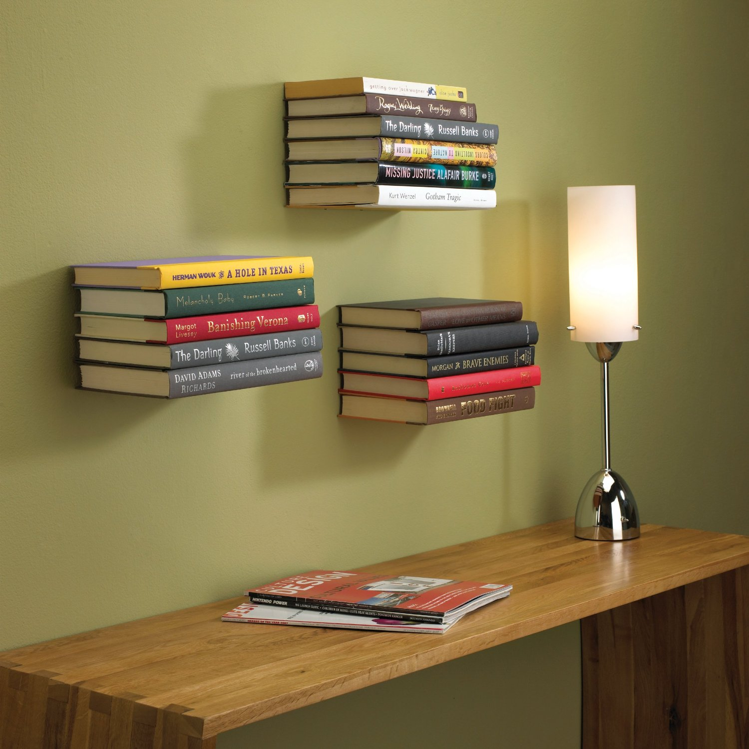 Minimalist Floating Bookshelves