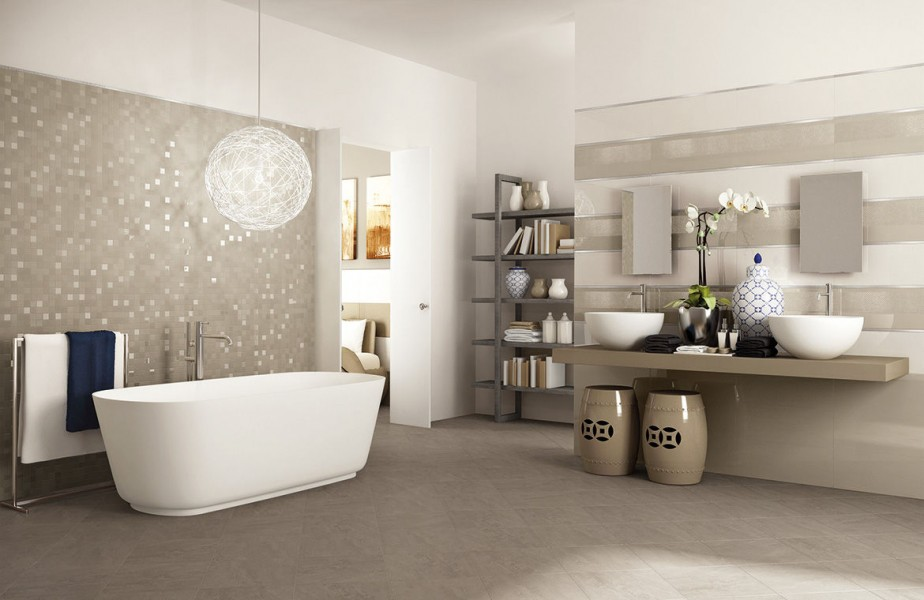 Stunning modern bathroom tile ideas inoutinterior for Carrelage salle de bains porcelanosa