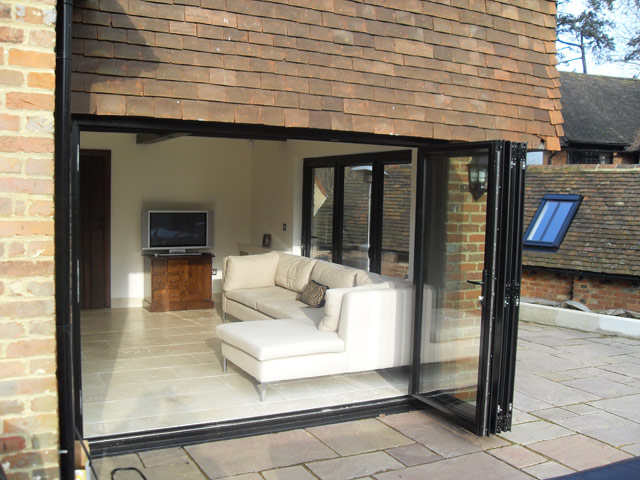 Modern Bi-Fold Patio Doors