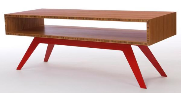 Modern DIY Coffee Table Red Colors
