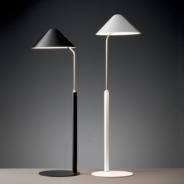 Modern Floor Lamps Black & White Shades