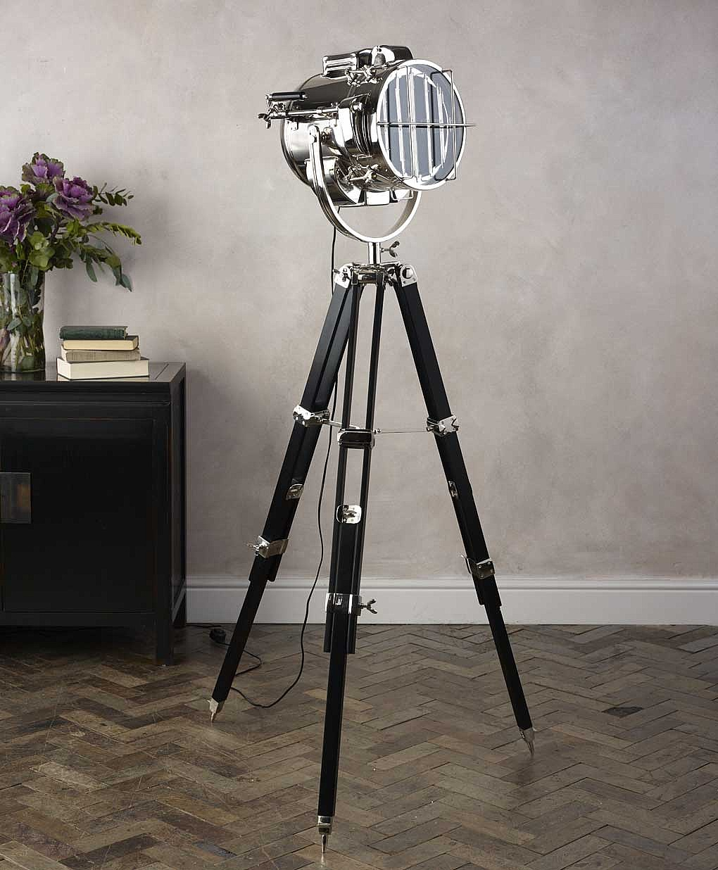 tripod floor lamp for a modern look inoutinterior. Black Bedroom Furniture Sets. Home Design Ideas