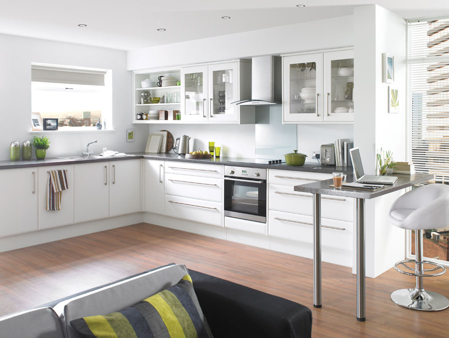 Modern White Kitchens With Wood modern kitchen cabinets design & features » inoutinterior