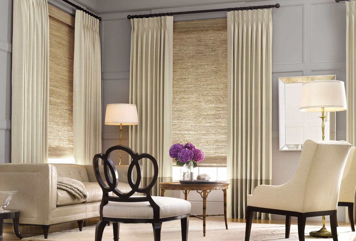 Decorative modern window treatments ideas inoutinterior - Living room picture window treatments ...
