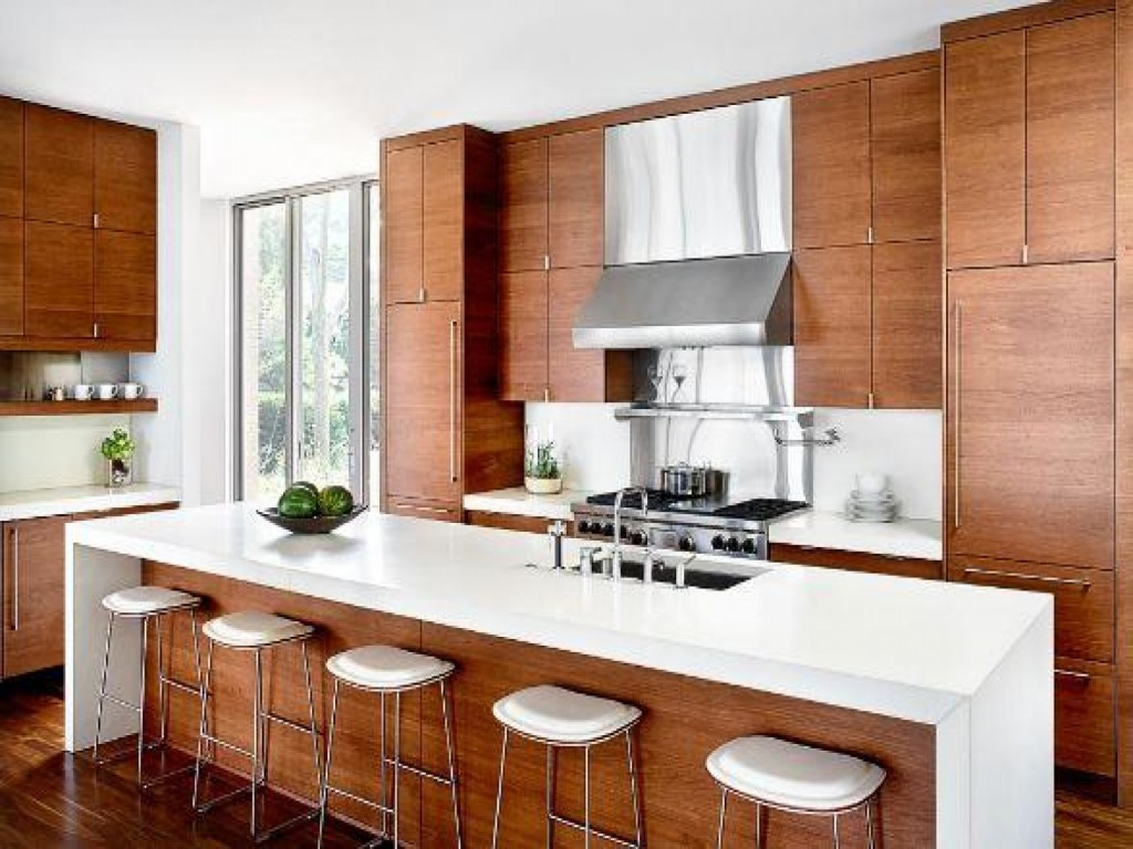 Modern Wood Kitchen Cabinets White Colors