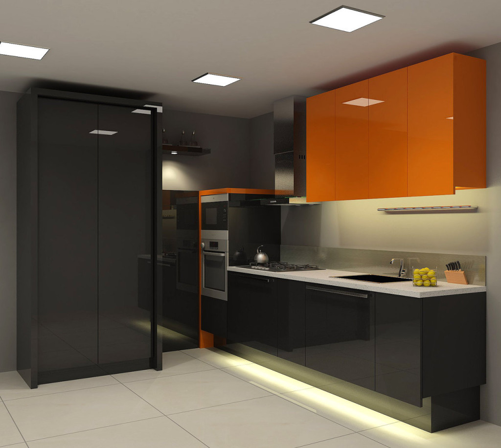 Black Modern Kitchen Cabinets