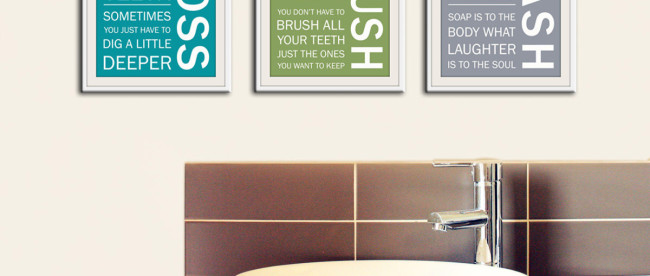 Bathroom Wall Art Printables