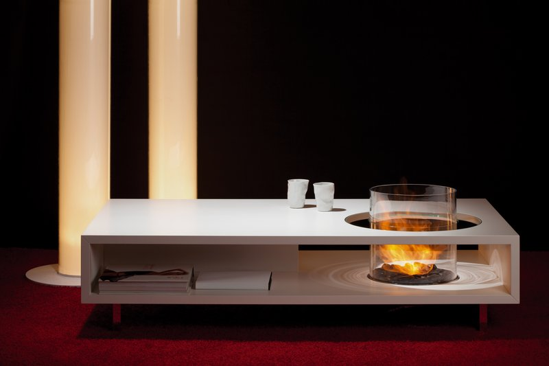 Modern Coffee Table With Fireplace