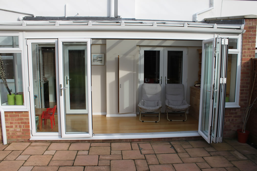 Simple White Bi-Fold Doors