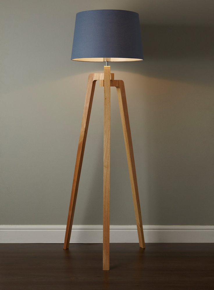 Tripod Floor Lamp With Blue Shades