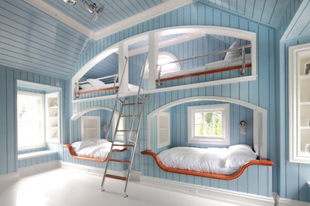 Built In Triple Bunk Bed