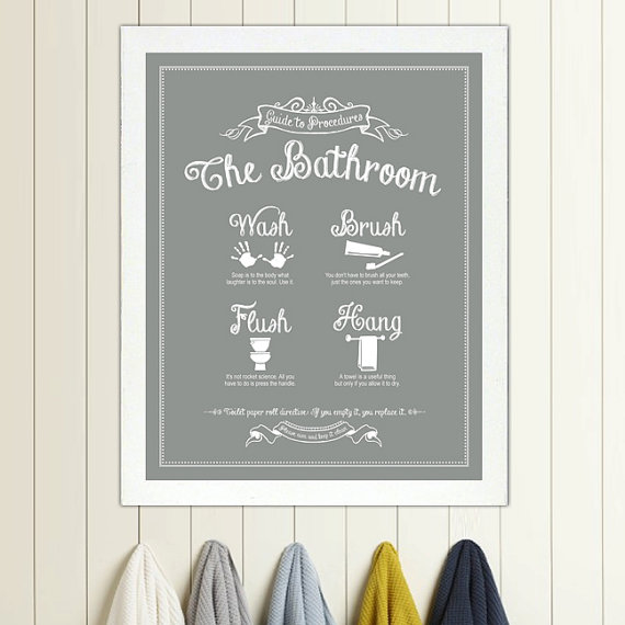 Vintage Bathroom Frame Wall Art
