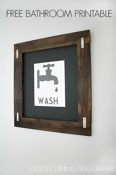 Vintage Framed Bathroom Wall Art Printables