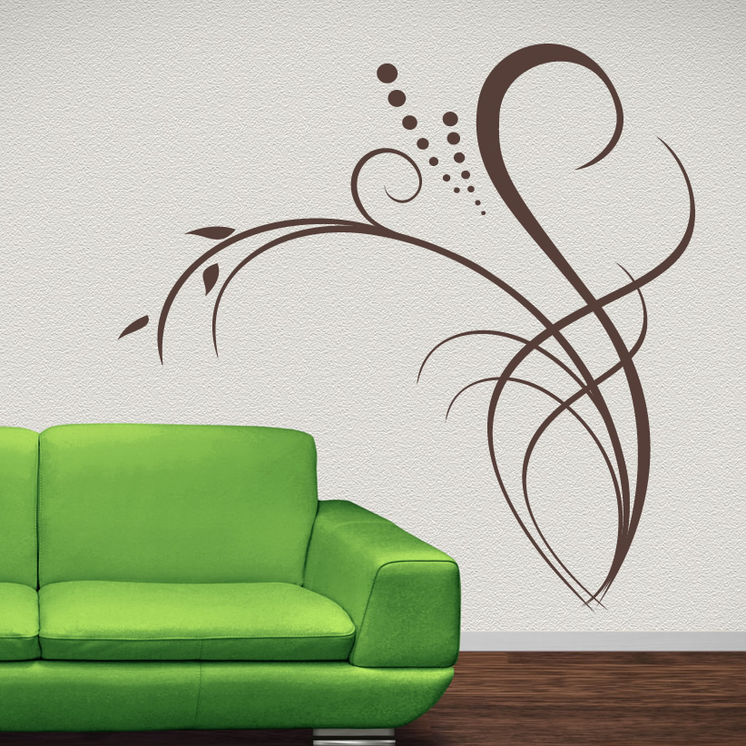 5 types of wall art stickers to beautify the room inoutinterior - Decorative wall sticker ...