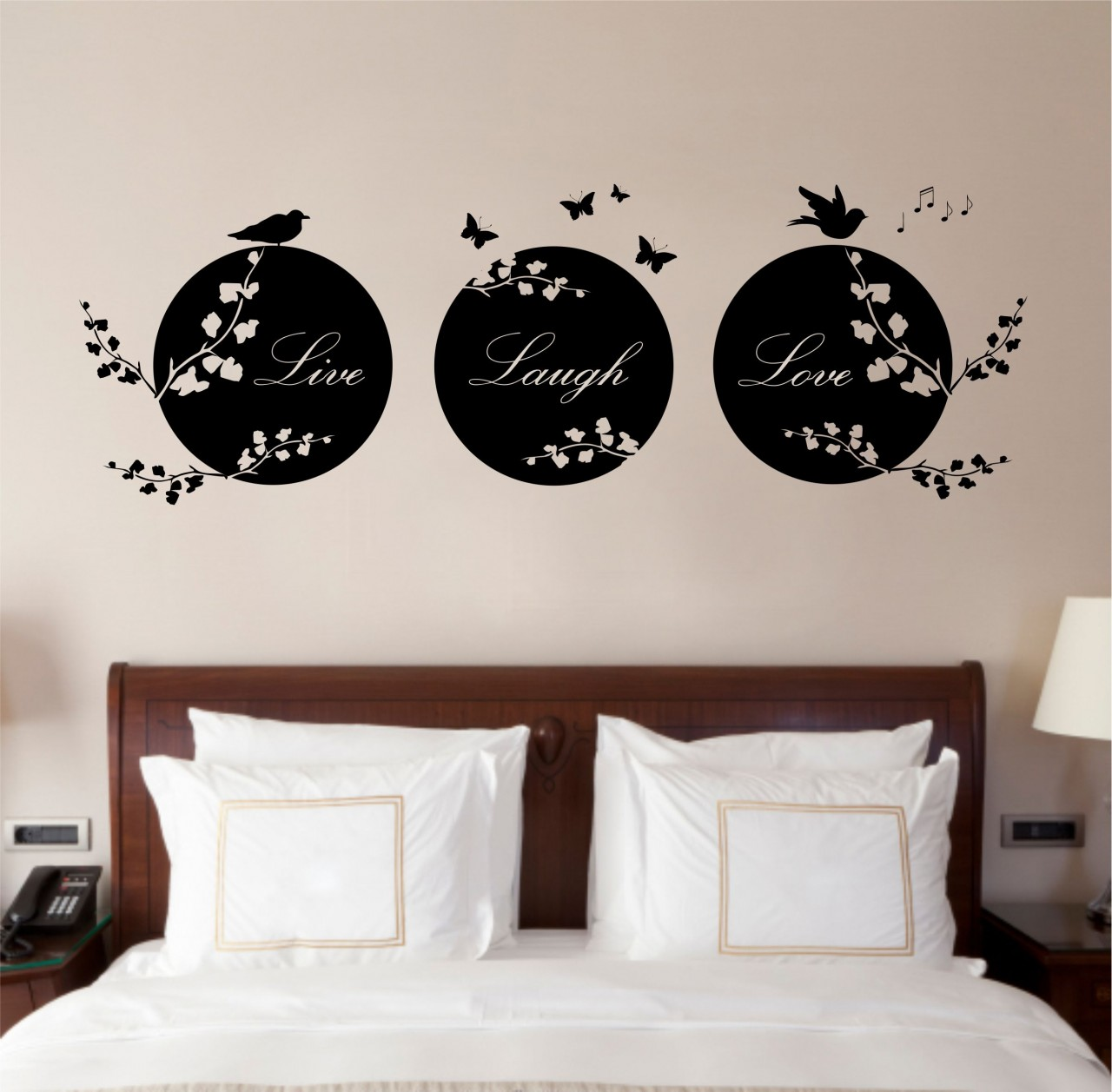5 types of wall art stickers to beautify the room for Bedroom wall decor