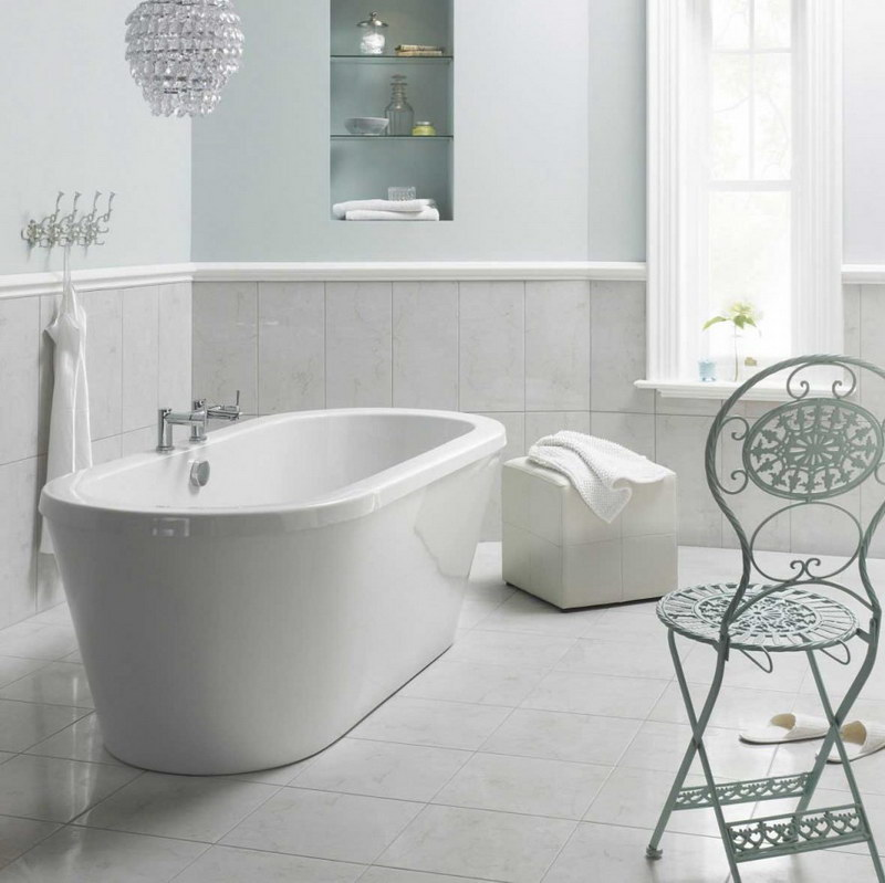 White Bathroom Floor Tiles Ideas