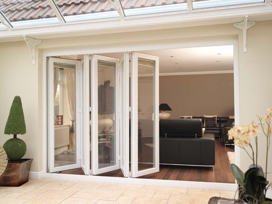 White Bi-Fold Doors UPVC