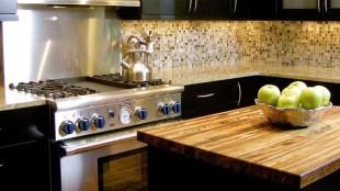 Butcher Block Countertops Dark Cabinets