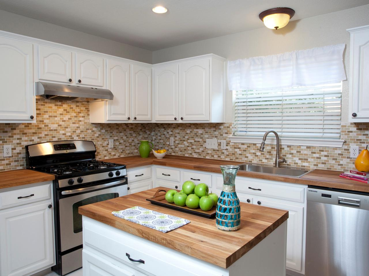... Butcher Block Countertops White Cabinets ...