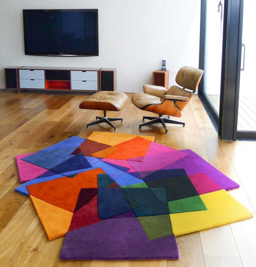 Colorful Area Rugs Unique Shape